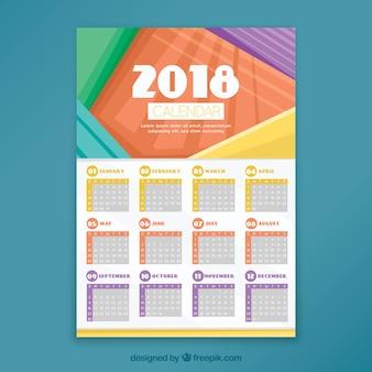 Dekoracyjny kalendarz 2018