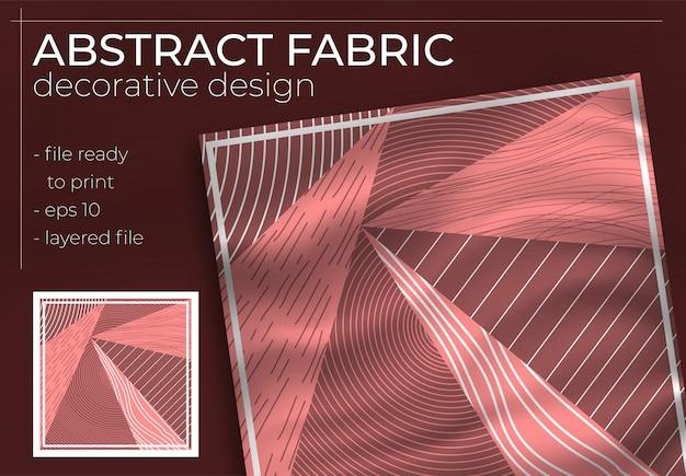 Dekoracyjny projekt abstrakcyjnej tkaniny z realistyczną makietą do produkcji poligraficznej. hidżab, szalik, poduszka itp.