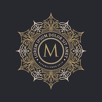 Dekoracyjny projekt logo