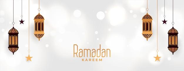 Dekoracyjny projekt transparentu festiwalu ramadan kareem eid