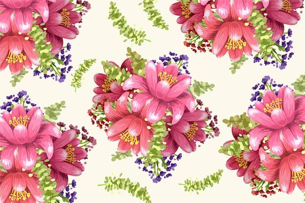 Dekoracyjny ręcznie malowany kwiatowy wygaszacz ekranu