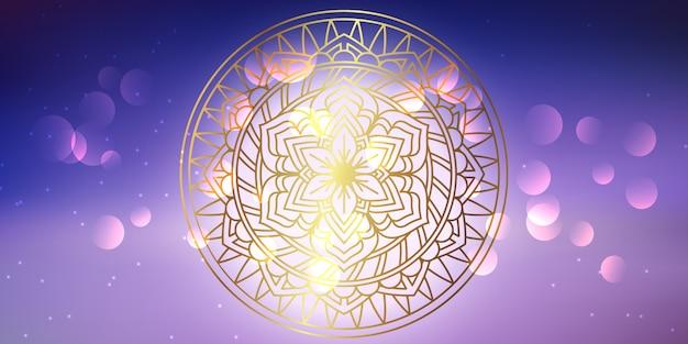 Dekoracyjny transparent mandali