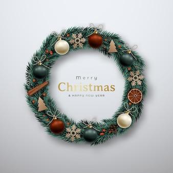 Dekoracyjny wieniec bożonarodzeniowy