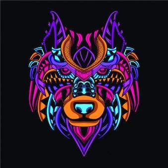 Dekoracyjny wilk