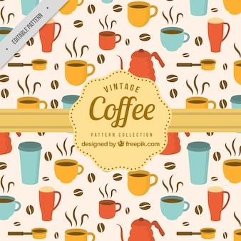 Dekoracyjny wzór elementów kawy