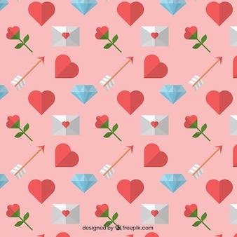 Dekoracyjny wzór z elementami valentine
