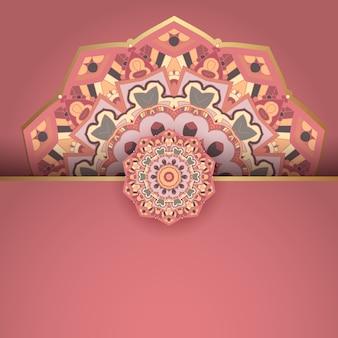 Dekoracyjny z eleganckim wzorem mandali