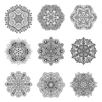 Dekoracyjny zestaw mandalas
