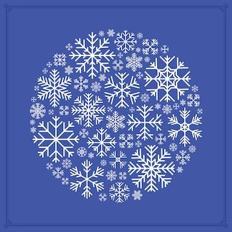 Dekorowanie wykonane z płatków śniegu