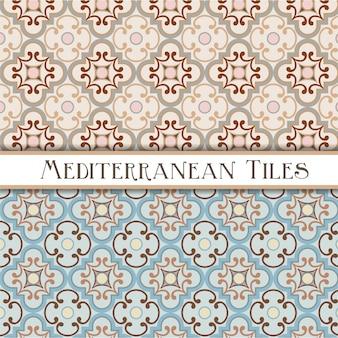 Delikatne kolory geometryczne wzory śródziemnomorskie