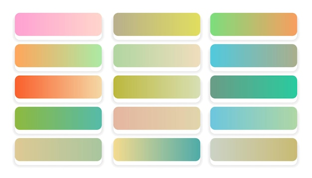 Delikatne pastelowe kolory gradienty duży zestaw