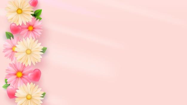 Delikatne wiosenne kwiaty jasnym tle