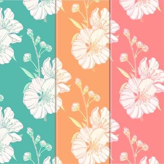 Delikatny kwiatowy wzór
