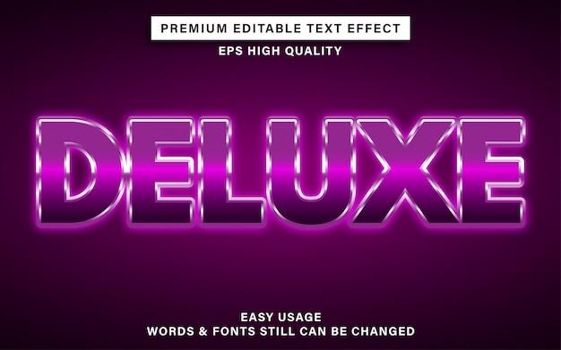 Deluxe edytowalny efekt tekstowy