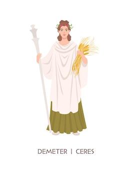Demeter lub ceres - bogini zbiorów i rolnictwa w starożytnej greckiej i rzymskiej religii lub mitologii