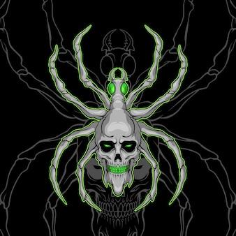 Demon czaszki pająk