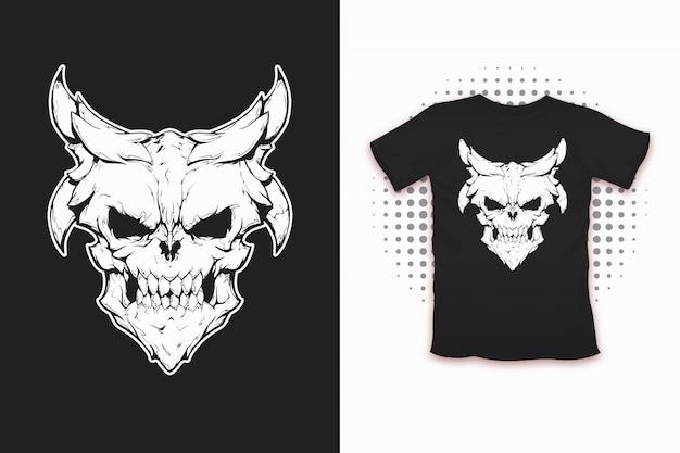 Demoniczny nadruk na koszulkę
