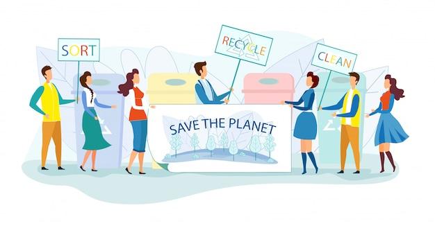 Demonstracja ludzi na rzecz ochrony środowiska