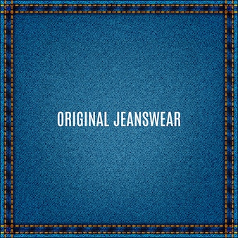 Denimowe tło jeansowej tkaniny z niebieską teksturą i kieszenią