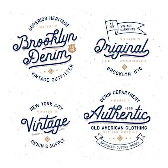Denimowy zestaw typografii