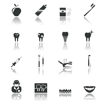 Dental Ikony Opieki Kolekcji Premium Wektorów