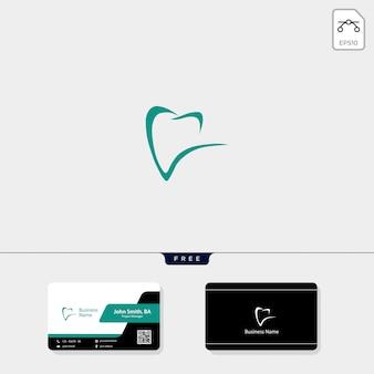 Dental logo i uzyskaj darmowy projekt wizytówki