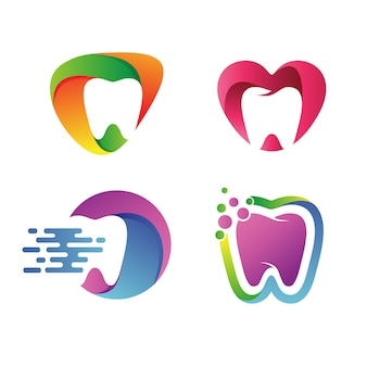 Dental logo wektor zestaw