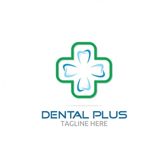 Dental plus logo z krzyżem