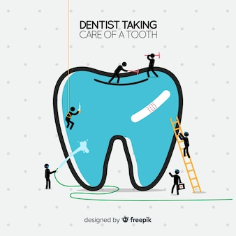 Dentyści dbający o tło zęba