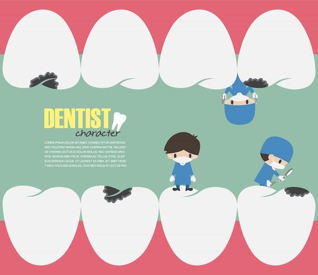 Dentyści sprawdzają w zębach