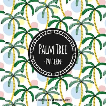 Deseń drzewa palmowego akwarela