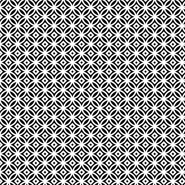 Deseniowego projekta mandala geometryczny bezszwowy tło czarny i biały