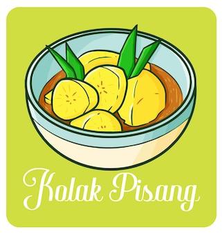 Deser ramadan z indonezji w prostym stylu doodle