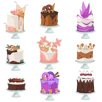 Desery i słodycze w menu kawiarni lub restauracji