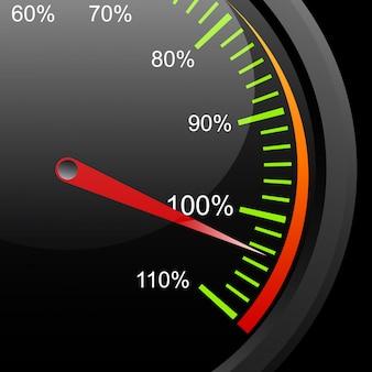 Deska rozdzielcza prędkości samochodu
