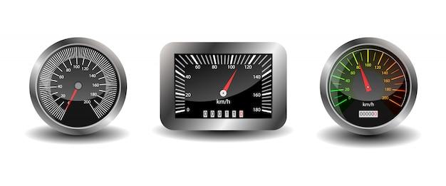 Deska rozdzielcza - prędkościomierz.