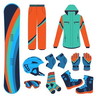 Deska snowboardowa. ekstremalne sporty zimowe.