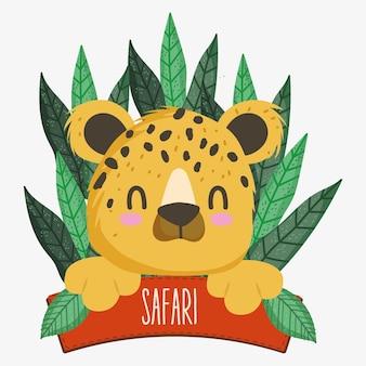 Deska tygrysa i safari