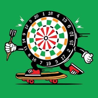 Deskorolka deskorolka dart gra planszowa postać