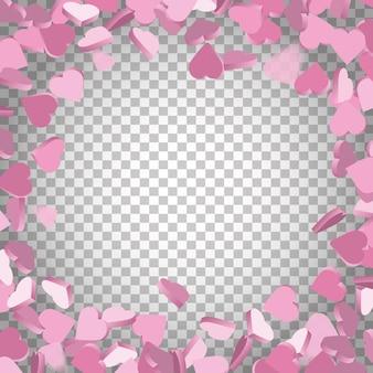 Deszcz miłości serc ilustracja przezroczyste tło