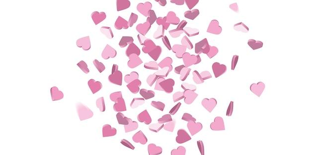 Deszcz miłości serca ilustracji