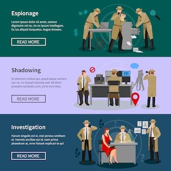 Detektyw spy poziome banery
