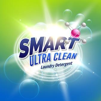 Detergent piorący projekt koncepcji reklamowej dla opakowań produktu