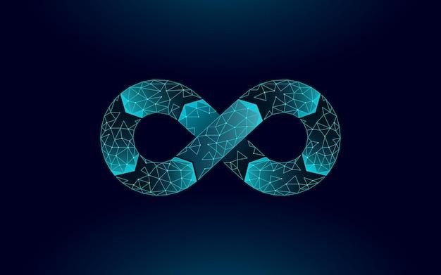 Devops symbol nieskończoności operacji tworzenia oprogramowania