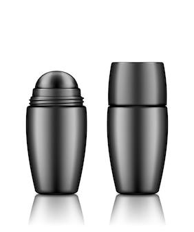 Dezodorant w butelce rolkowej 3d realistyczna makieta wektorowa