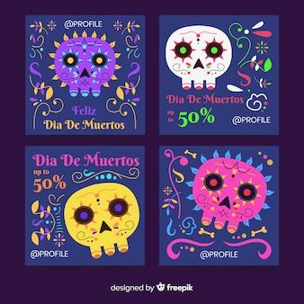 Día de muertos instagram kolekcja postów