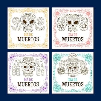 Dia de muertos instagram kolekcja postów