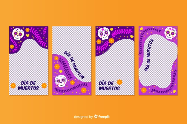 Día de muertos kolekcja opowiadań na instagramie