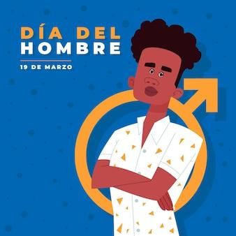 Dia del hombre ilustracja z człowiekiem