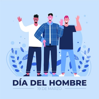Dia del hombre ilustracja z mężczyznami